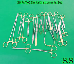 26 Pc T c Surgical Veterinary Dental Instruments Set W Tungsten Carbide Ds 998