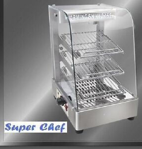 New Heated Food Display Warmer Cabinet Case 15 S s