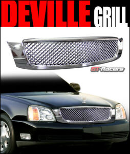 For 2000 2005 Cadillac Deville Chrome Honeycomb Mesh Front Hood Bumper Grille