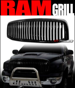 For 2006 2008 2009 Dodge Ram Black Vertical Front Hood Bumper Grille Guard 1pc
