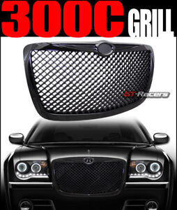For 2004 2005 2010 Chrysler 300 300c Black Mesh Front Hood Bumper Grill Grille