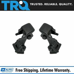 Black Hood Hold Down Latch Set Pair For 97 06 Jeep Wrangler