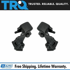 Trq Black Hood Hold Down Latch Set Pair For 97 06 Jeep Wrangler
