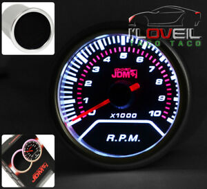 Universal Tachometer Rpm Gauge Led Display Monitor Meter Glow Jdm Vip Smoke Lens