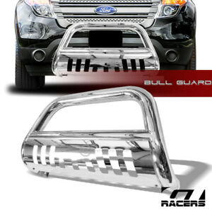 For 2011 2018 Ford Explorer Chrome Bull Bar Brush Push Bumper Grill Grille Guard