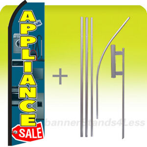 Appliance Sale Feather Flutter Swooper Banner Sign Flag 15 Kit Gz