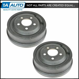 Rear Brake Drum Pair Set For Chrysler Plymouth Dodge