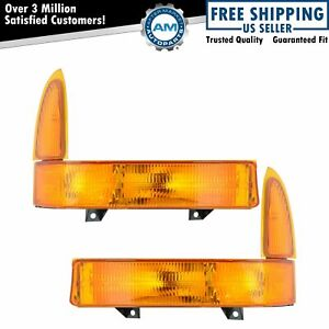Corner Side Parking Light Pair Set For 99 01 Excursion F250 F350 Pickup Truck