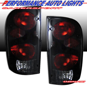Set Of Pair Black Smoke Altezza Taillights For 1995 2000 Toyota Tacoma 2wd 4wd