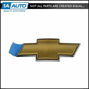 Oem Grille Mounted Gold Bowtie Adhesive Emblem For Chevy Impala Monte Carlo