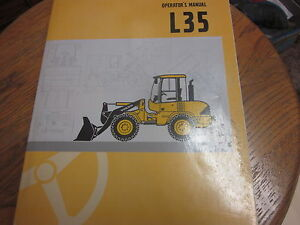 Volvo L35 Wheel Loader Operators Manual