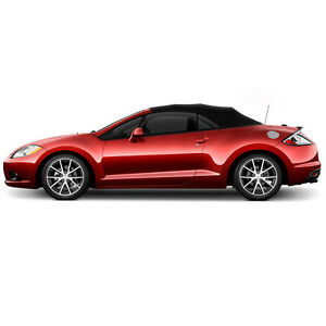 Mitsubishi Eclipse Convertible Soft Top Replacement 2006 2011 Black Twill