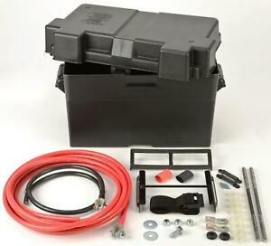 Automotive Marine Type Battery Relocation Kit W Box And Cables Jegs 10278