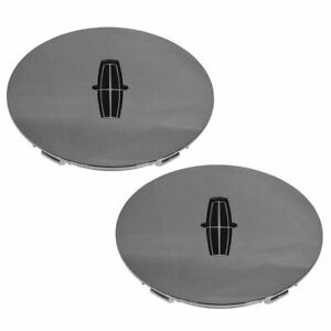 Oem Wheel Hub Center Cap Pair Chrome 16 Inch With Emblem For Lincoln Continental