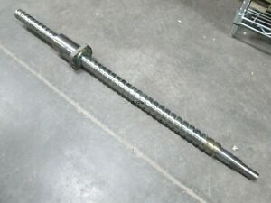 Ball Screw And Nut Steel 840mm 33 X 39mm Screw 20mm Pitch
