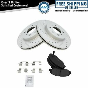 Nakamoto Rotor Brake Pad Semi Metallic Performance Drilled Slotted Front Kit