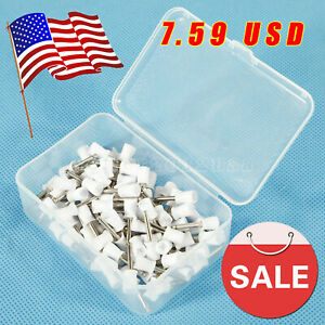 100pcs Dental Prophy Tooth Polishing Cups Brushes Latch type Rubber White Polish