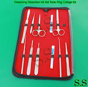 Dissecting Dissection Kit Set Tools Frog College Biology Student Lab S s 594