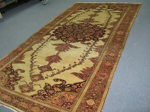 Antique Farahan Sarouk Hand Knotted Persian Wool Rug 5 X 11 3 Gallery Runner