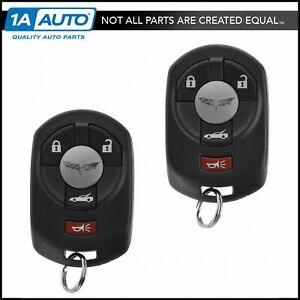 Oem Keyless Entry Remote Transmitter Fob Number 1 2 Pair Set For Corvette C6