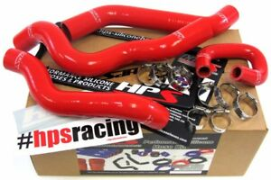 Hps Red 3 Ply Silicone Radiator Hose Kit For Chevy 08 10 Cobalt Ss Supercharged