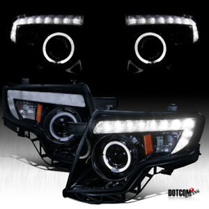 For 2007 2010 Ford Edge Black Smoke Led Drl Strip Halo Rim Projector Headlights