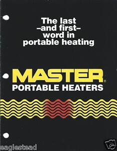 Equipment Brochure Master Portable Construction Farm Heaters 1990 e2117