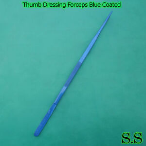 huge Tweezers Thumb Dressing Forceps 24 Blue Coated Surgical Instruments