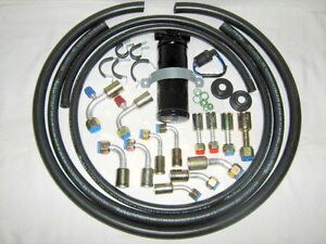 A c Hose Kit General Use W 90 Degree R134a O Ring Fittings t rinary Switch
