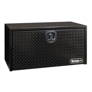 Buyers Black Steel 18 X 18 X 30 Underbody Box W Diamond Tread Door 1702503