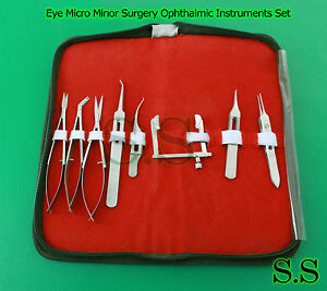 Eye Micro Minor Surgery Ophthalmic Instruments Set 8 Pieces Kit Surgical Ey 052