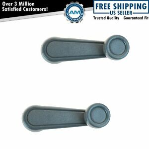 Manual Window Crank Gray Driver Passenger Side Pair For 4runner Corolla Tercel