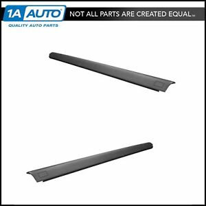 Oem Black Bed Rail Side Cap Cover Left Right Pair For Nissan Titan Crew Cab New