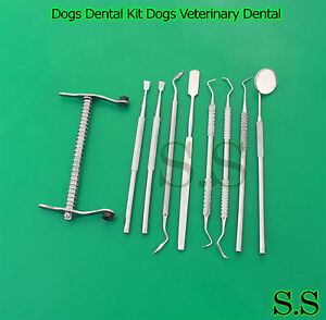 Dogs Dental Kit Dogs Veterinary Dental Tartar Removal Dogs Mouth Gags S s 631