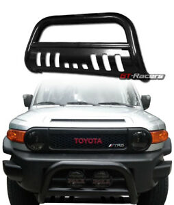 For 2007 2014 Toyota Fj Cruiser Black Bull Bar Brush Bumper Grill Grille Guard