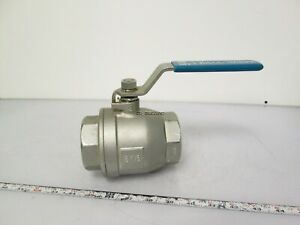 2 2 piece Dn50 316 Stainless Steel Ball Valve W Handle 1000psi Water Oil Gas