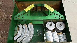 Greenlee 777 Conduit Pipe Bender 1 1 4 To 4 Inch Dies Frame No Pump No Cylinder