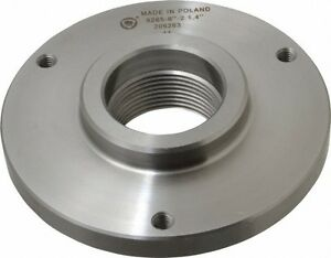Bison Lathe Chuck Back Plate Threaded 1 1 2x8 For Set tru 8 In Chuck 7 876 082
