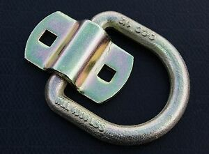 2 Bolt On D Ring 1 2 Flatbed Truck Trailer Tie Down Strap Chain Rope Tow Rings