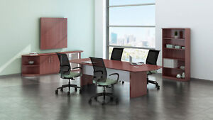 10ft Stylish Modern Office Conference Table With Mahogany Laminate Finish