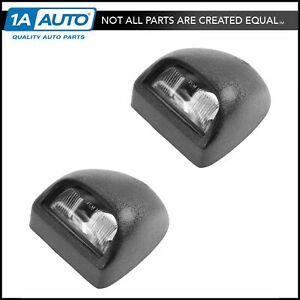 Oem License Plate Light Lamp Pair Set Of 2 Lh Rh Textured Black For Chevy Gmc