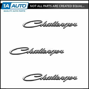 Oem Challenger Nameplate Emblem Chrome Kit Set Of 3 For 70 74 Dodge New