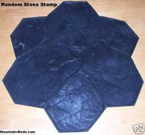 New Random Stone rock Decorative Concrete Cement Imprint Texture Stamp Mat Rigid