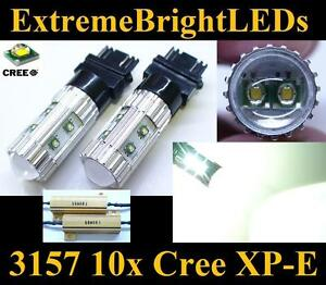 Two Hid White 50w 3156 3157 10x Cree Xp e Turn Signal Lights 2 Load Resistors