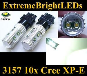 Two Xenon Hid White 50w High Power 3156 3157 10x Cree Xp e Turn Signal Lights