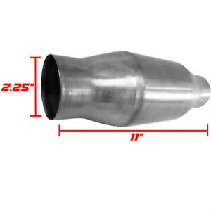 2 25 Universal Thunderbolt Catalytic Converter High Flow Stainless Steel