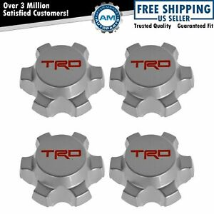 Oem Trd Wheel Center Cap Set Of 4 Silver 16 Alloy For Toyota Tacoma Fj Cruiser