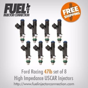 Ford Racing 47lb hr High Impedance Injector Set Of 8