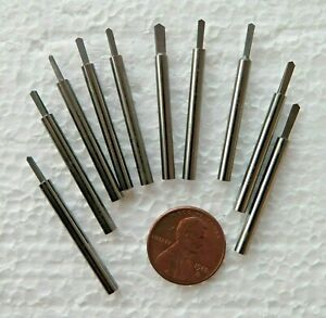Lot Of 10 Tungsten Carbide Spade Drill 1 8 Engraving Bits Gravers Jewelry Lathe