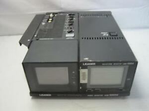 8945 Leader Waveform Monitor And Lvm5863 Untested Free Shipping Continental Usa